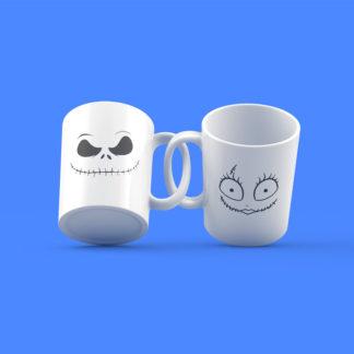 Jack & Sally Nightmare Before Christmas Couple Mugs